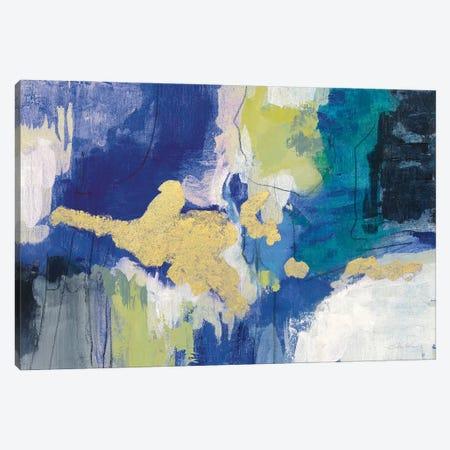 Sparkle Abstract III Blue Crop Canvas Print #SIV246} by Silvia Vassileva Canvas Print