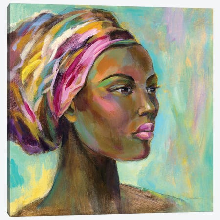 African Woman I Canvas Print #SIV250} by Silvia Vassileva Canvas Print