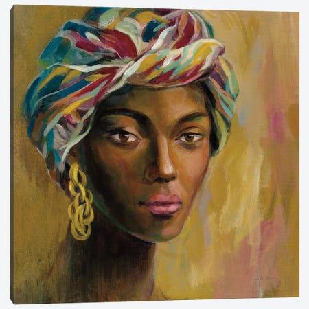 African Face I Canvas Print #SIV252} by Silvia Vassileva Art Print
