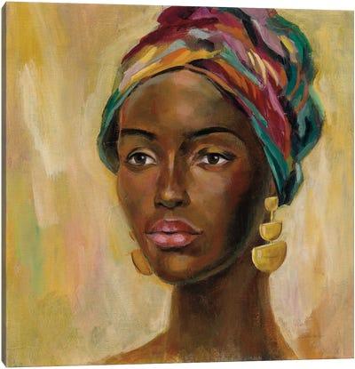 African Face II Canvas Art Print