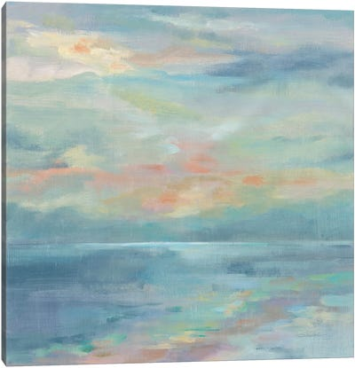 June Morning By The Sea Canvas Art Print