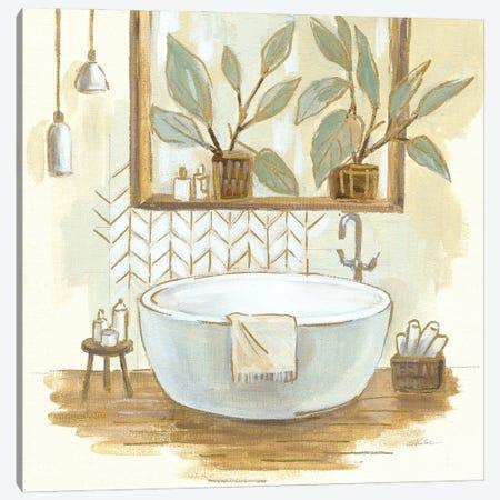 Sage Bathroom I Canvas Print #SIV260} by Silvia Vassileva Canvas Wall Art