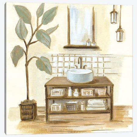 Sage Bathroom II Canvas Print #SIV261} by Silvia Vassileva Canvas Art