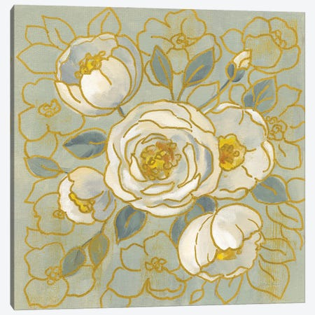 Sage Floral II Canvas Print #SIV262} by Silvia Vassileva Canvas Artwork