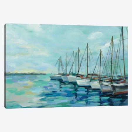 Breakwater and Boats Canvas Print #SIV274} by Silvia Vassileva Canvas Artwork