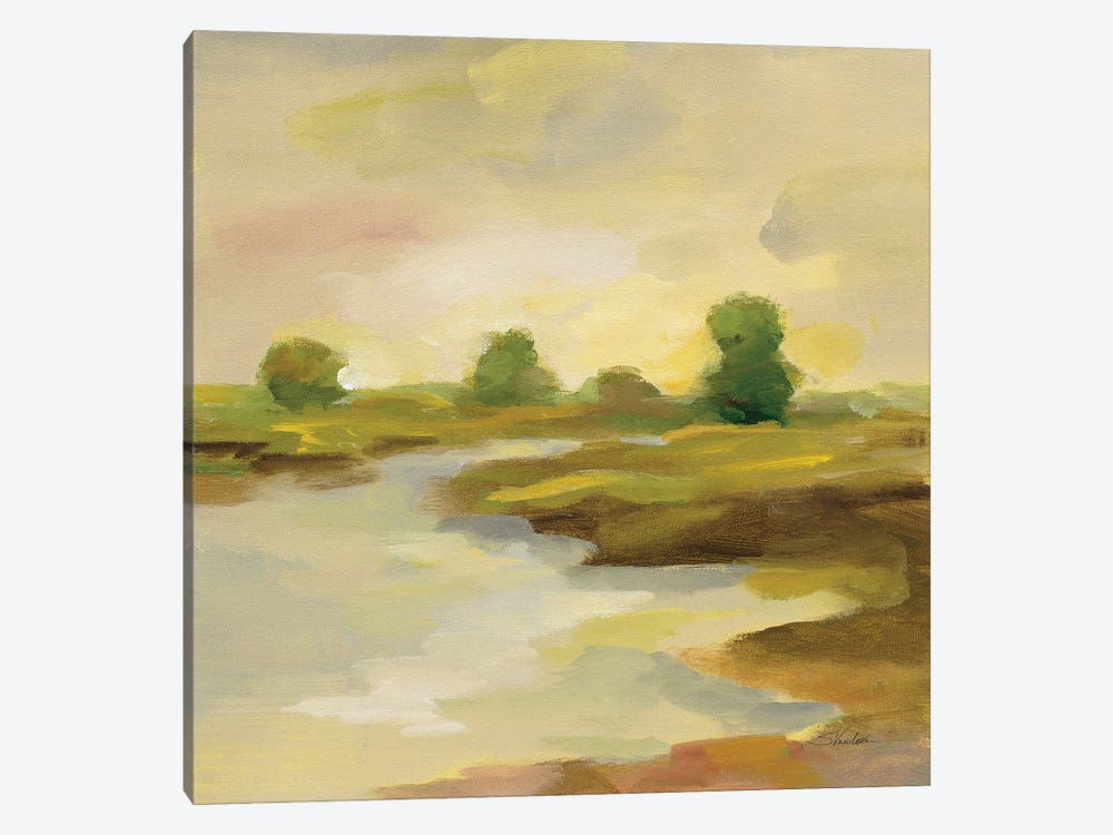 Chartreuse Fields I by Silvia Vassileva 1-piece Canvas Print