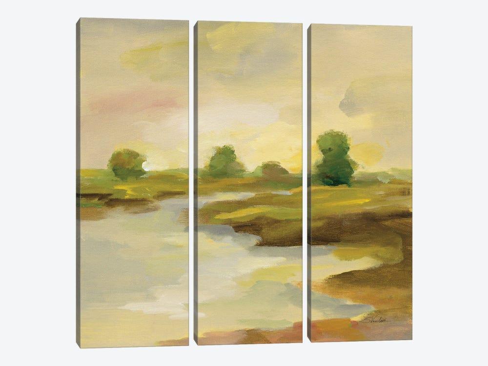 Chartreuse Fields I by Silvia Vassileva 3-piece Canvas Print