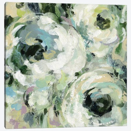 Sage and Lavender Peonies II Canvas Print #SIV27} by Silvia Vassileva Canvas Art