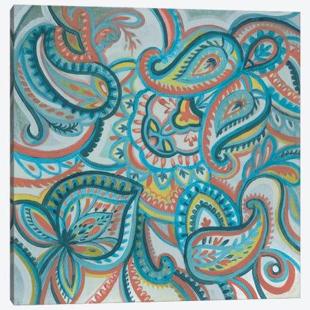 Emerald Paisley I Canvas Print #SIV281} by Silvia Vassileva Canvas Art