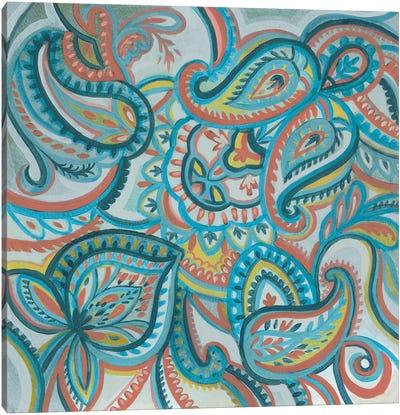 Emerald Paisley I Canvas Art Print