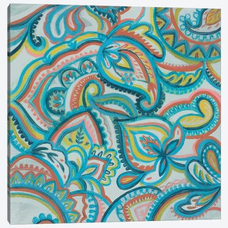 Emerald Paisley II Canvas Print #SIV282} by Silvia Vassileva Canvas Art