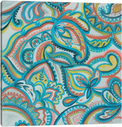 Emerald Paisley II Canvas Art Print