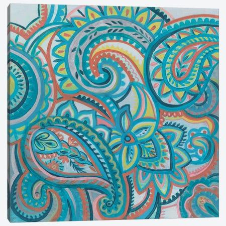 Emerald Paisley III Canvas Print #SIV283} by Silvia Vassileva Canvas Art