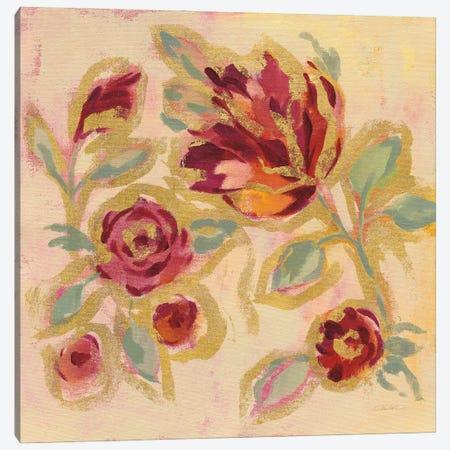Gilded Loose Floral II Canvas Print #SIV285} by Silvia Vassileva Art Print