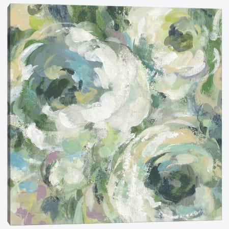 Sage and Lavender Peonies II Light Canvas Print #SIV28} by Silvia Vassileva Art Print