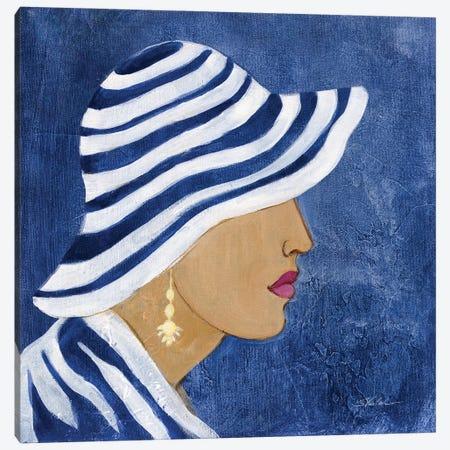 Lady with Hat I Canvas Print #SIV294} by Silvia Vassileva Canvas Artwork