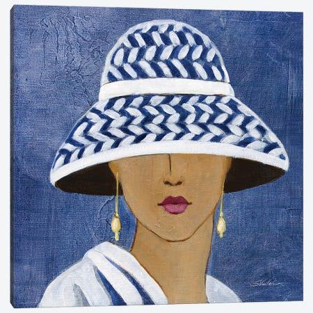 Lady with Hat II Canvas Print #SIV295} by Silvia Vassileva Canvas Artwork