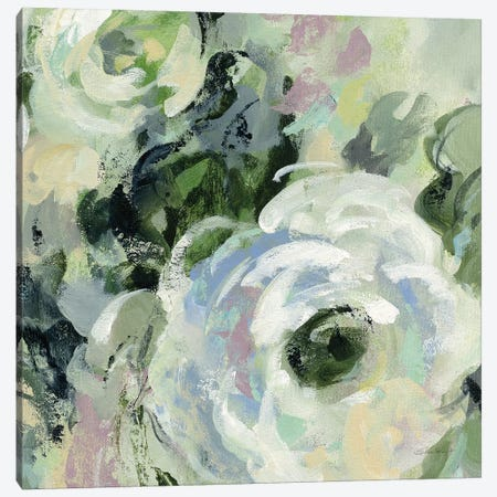 Sage and Lavender Peonies III Canvas Print #SIV29} by Silvia Vassileva Canvas Art Print