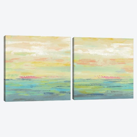Pink Clouds Diptych Canvas Print Set #SIV2HSET002} by Silvia Vassileva Canvas Wall Art