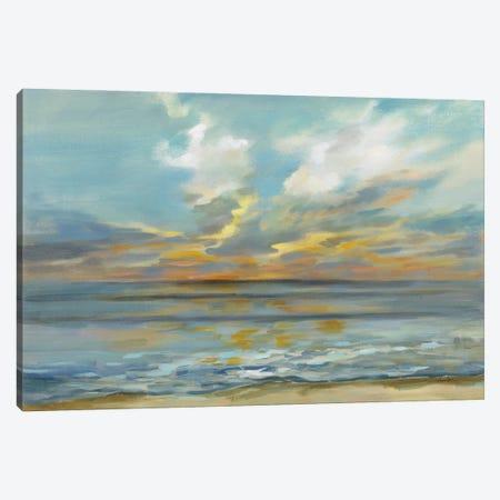 Rhythmic Sunset Waves Canvas Print #SIV303} by Silvia Vassileva Canvas Art Print