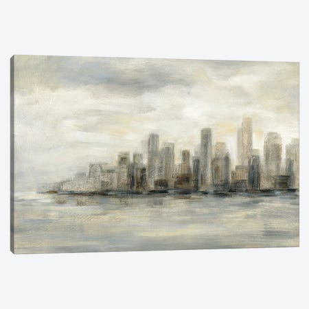 Manhattan Low Clouds Canvas Print #SIV46} by Silvia Vassileva Canvas Wall Art