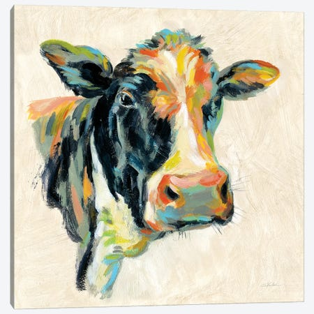 Expressionistic Cow I Canvas Print #SIV51} by Silvia Vassileva Canvas Art