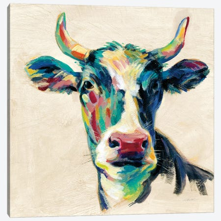 Expressionistic Cow II Canvas Print #SIV52} by Silvia Vassileva Canvas Art