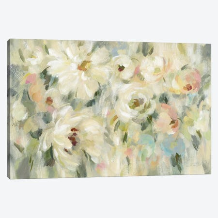 Expressive Pale Floral Canvas Print #SIV53} by Silvia Vassileva Canvas Wall Art