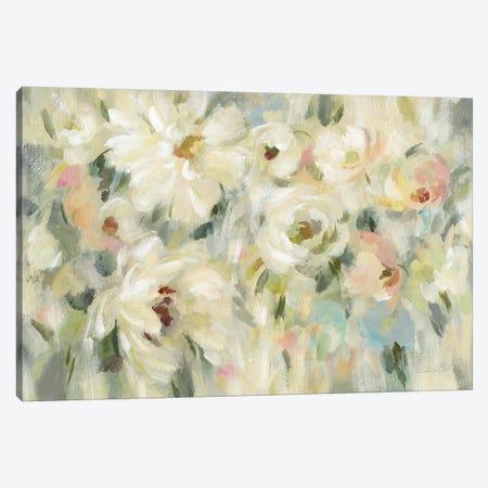 Expressive Pale Floral Canvas Print #SIV53} by Silvia Vassileva Canvas Wall Art