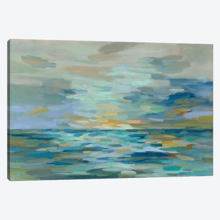 Pastel Blue Sea Canvas Print #SIV54} by Silvia Vassileva Canvas Print