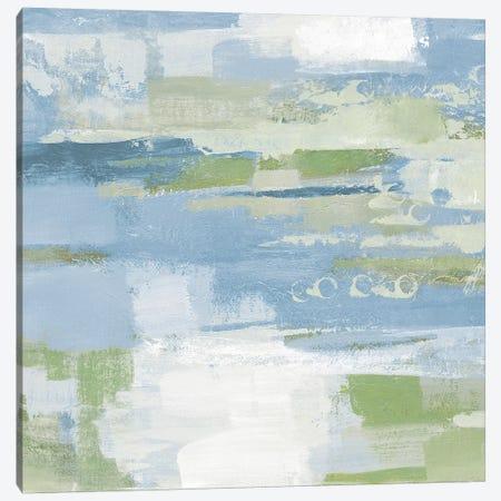 Urban Walkway II Blue and Green Canvas Print #SIV57} by Silvia Vassileva Art Print