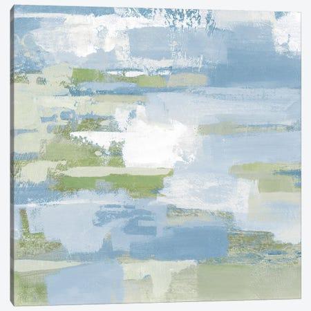 Urban Walkway III Blue and Green Canvas Print #SIV58} by Silvia Vassileva Canvas Wall Art
