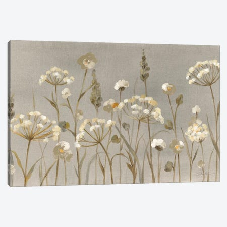 Delicate Garden Neutral Canvas Print #SIV5} by Silvia Vassileva Art Print
