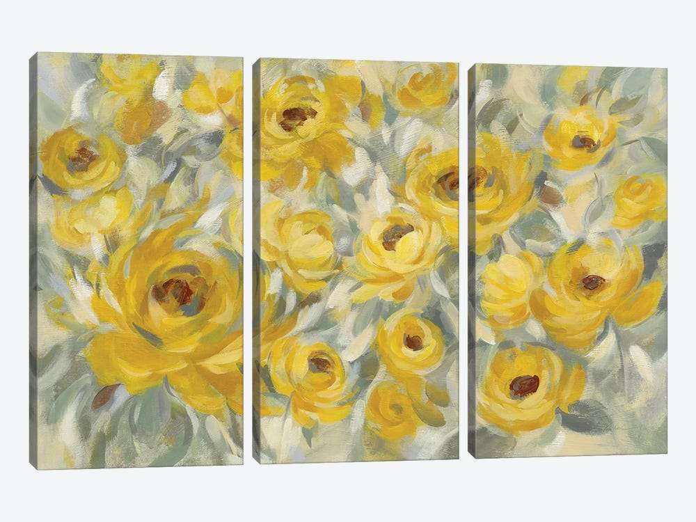 Yellow Roses by Silvia Vassileva 3-piece Art Print