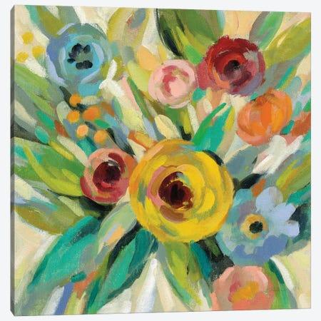 Vivid Coral Floral III Canvas Print #SIV79} by Silvia Vassileva Canvas Artwork