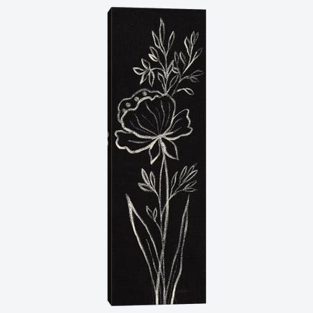 Black Floral III Crop Canvas Print #SIV81} by Silvia Vassileva Art Print
