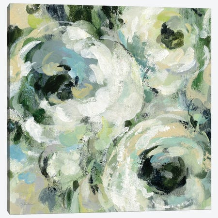 Sage and Neutral Peonies II 3-Piece Canvas #SIV82} by Silvia Vassileva Art Print