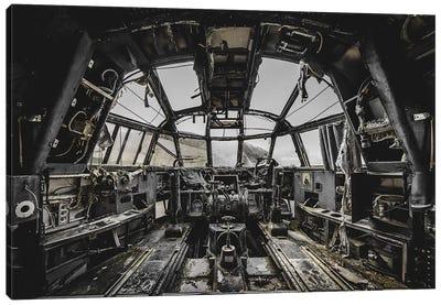 Avion Militaire Canvas Art Print