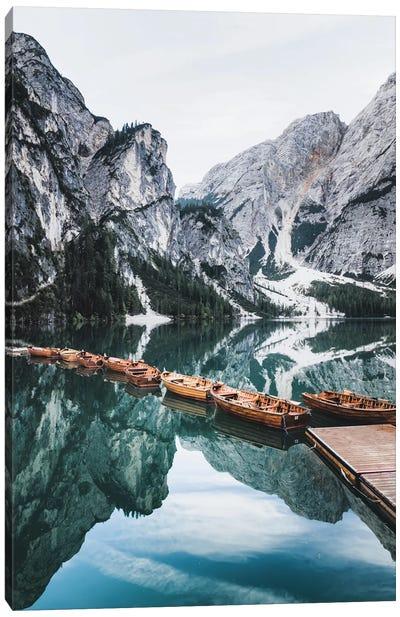 Lago Di Braies Canvas Art Print
