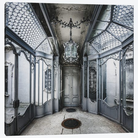 Beautiful And Ornate Metalwork In Abandoned Villa Canvas Print #SIY53} by Simon Yeung Art Print