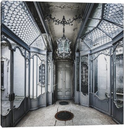 Beautiful And Ornate Metalwork In Abandoned Villa Canvas Art Print