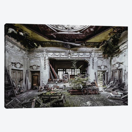 Decay And Details In A Derelict Theatre Canvas Print #SIY55} by Simon Yeung Canvas Art