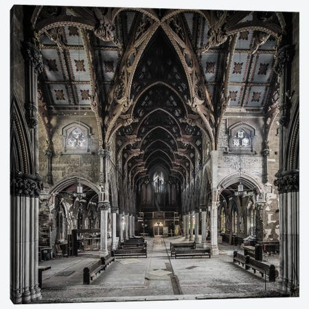 Gothic Church Canvas Print #SIY9} by Simon Yeung Art Print