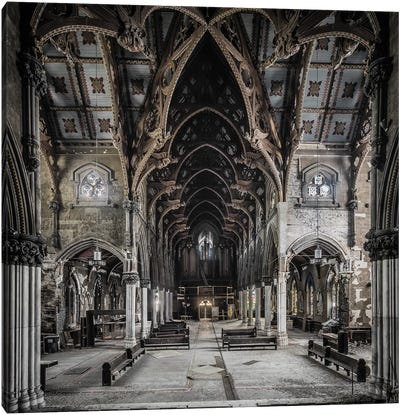 Gothic Church Canvas Art Print