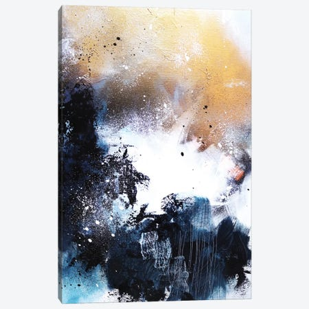 Melting Gold I Canvas Print #SJA13} by Sana Jamlaney Canvas Print