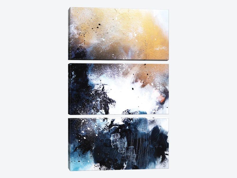 Melting Gold I by Sana Jamlaney 3-piece Canvas Art