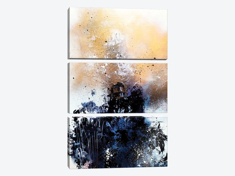 Melting Gold II 3-piece Canvas Print