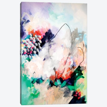 Singing In The Rain Canvas Print #SJA17} by Sana Jamlaney Canvas Artwork