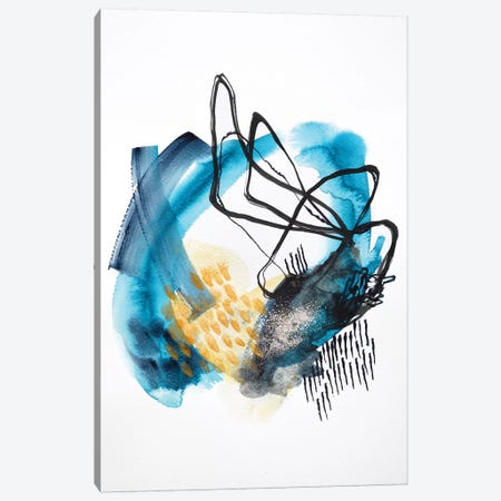 Follow The Tide Canvas Print #SJA34} by Sana Jamlaney Canvas Wall Art
