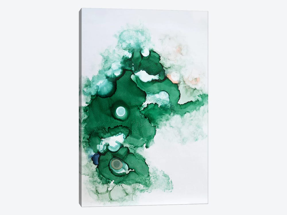 Green II by Sana Jamlaney 1-piece Canvas Wall Art